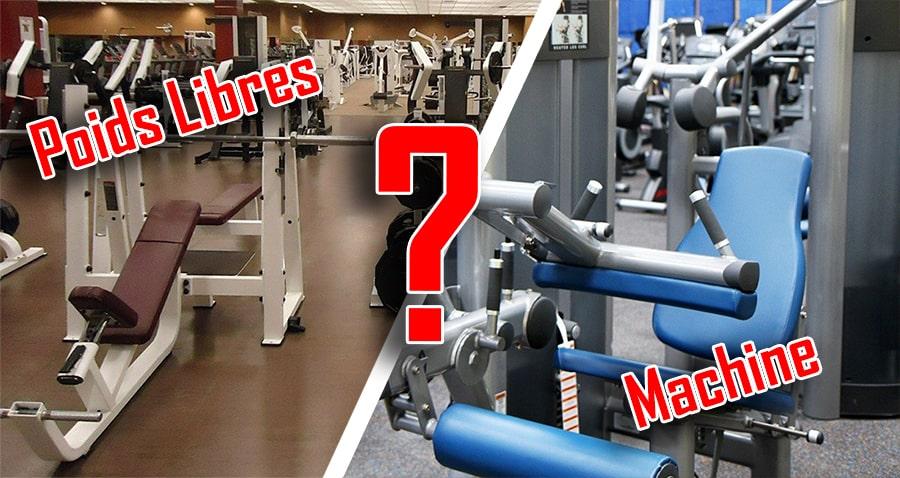 exercice isolation machine ou poids libres