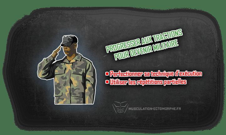 conseils tractions pour devenir militaire