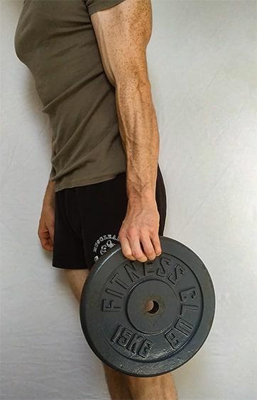 exercice de gainage des avant bras pour l'escalade